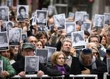 Imagen del acto en homenaje a los fallecidos por el atentado a la AMIA