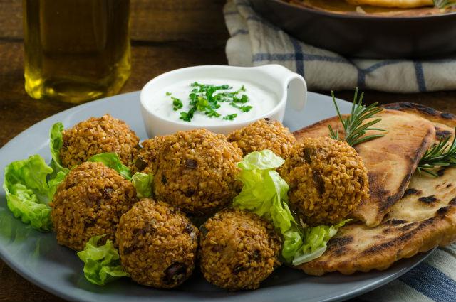 El falafel es una típica comida kosher.