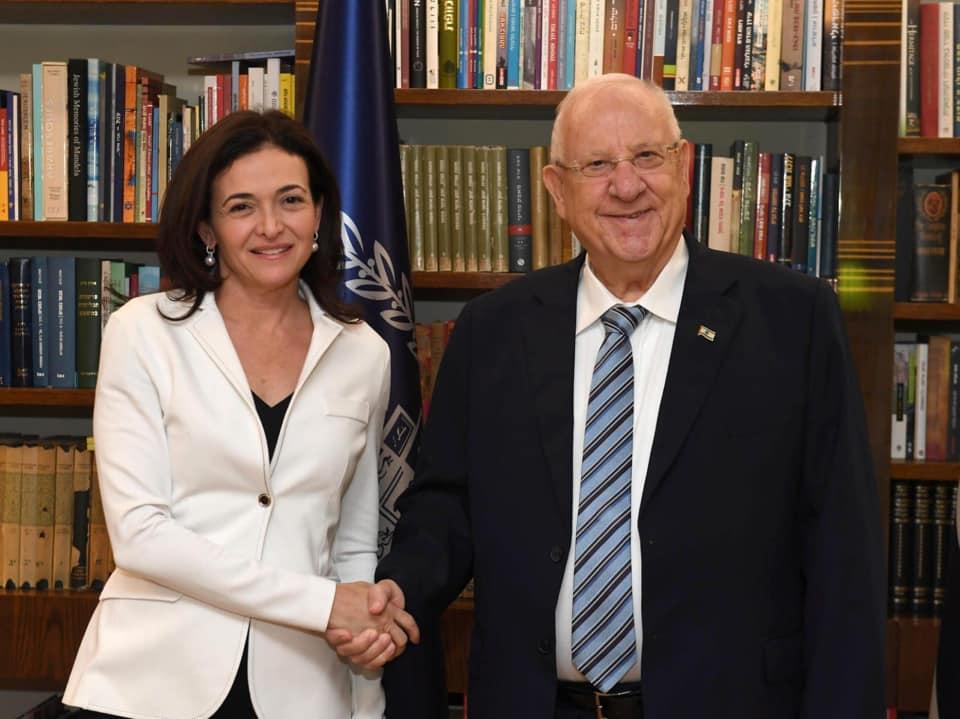 Sandberg y el presidente Rivlin.