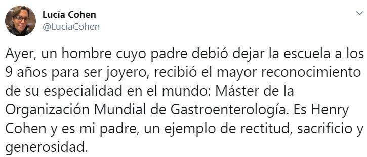 Publicación de Lucía Cohen