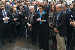 Jorge Faurie junto a Galit Ronen durante la ceremonia