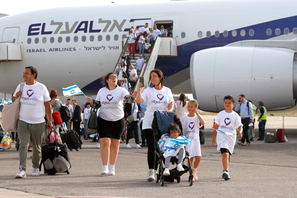 Inmigrantes judíos haciendo aliá