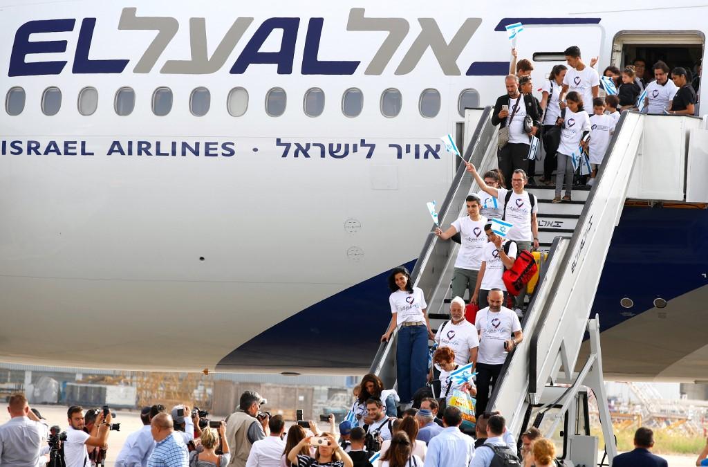 Nuevo inmigrantes arriban a Israel