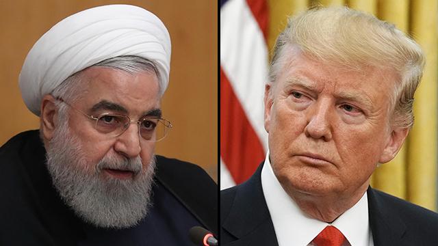 Hassan Rouhani y Donald Trump.