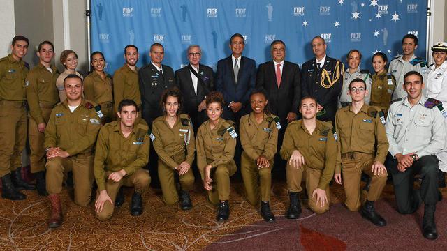 20 soldados y oficiales de las FDI participaron del evento