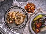 Patas de pollo con granada y menta para Rosh Hashaná