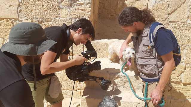 Migas durante el rodaje en Israel