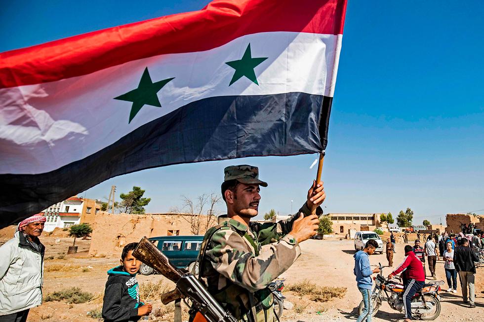 Tropas sirias en la ciudad kurda de Tel Tamer