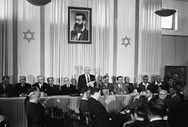 Ben Gurión declara la independencia del Estado de Israel