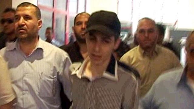 Guilad Shalit en el día de su liberación