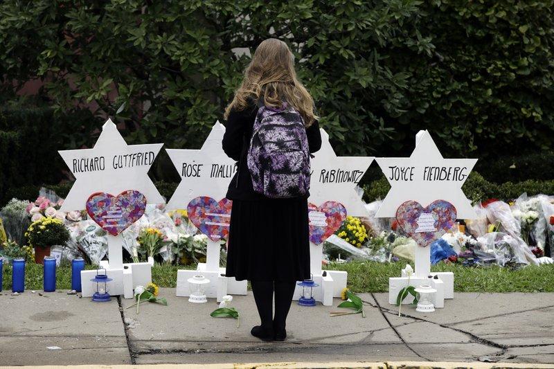 Homenaje a las víctimas de la masacre de la sinagoga 'Árbol de la Vida' en Pittsburgh