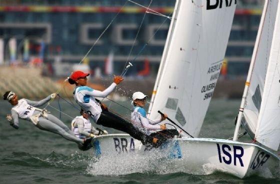 Una atleta israelí compite en los Juegos Olímpicos de Beijing 2008.