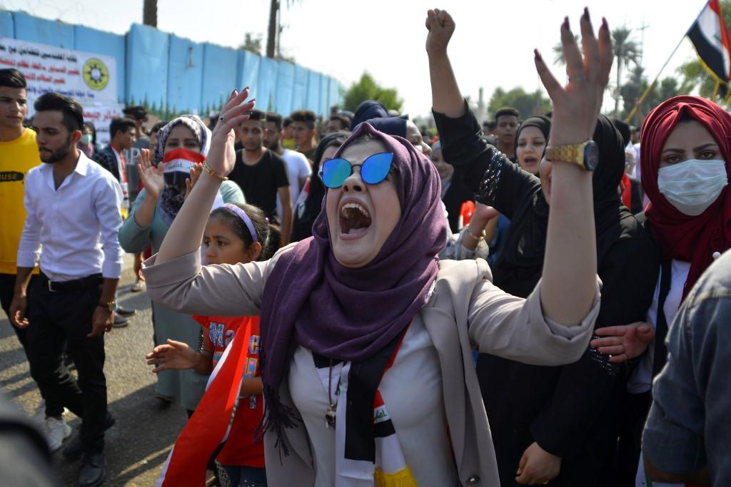 Masivas protestas en Irak
