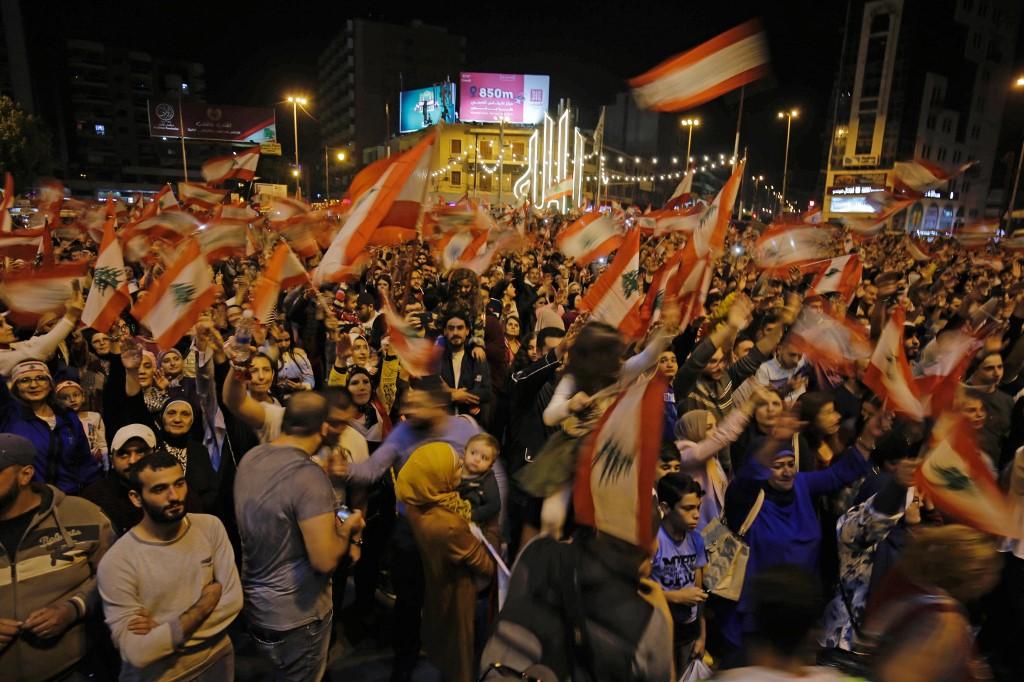 Manifestaciones en Trípoli, la capital libanesa