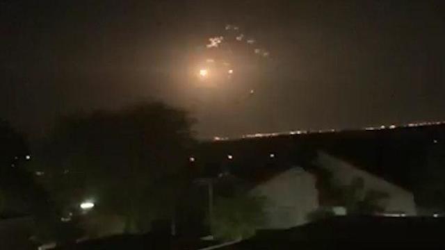 La cúpula de Hierro, interceptando misiles desde Gaza.