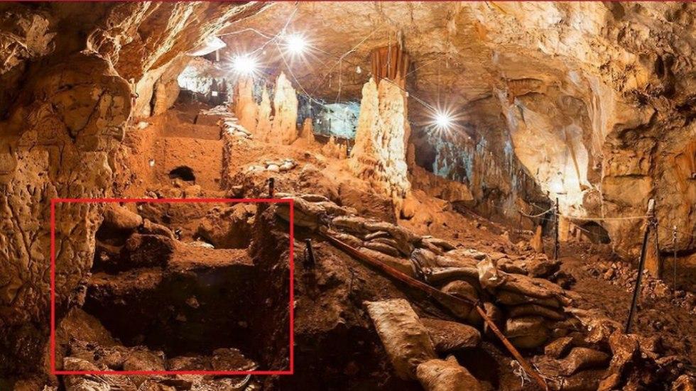 La cueva donde los dientes fueron encontrados.
