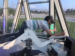Mediante realidad virtual, quienes visiten el centro podrán formar parte de una bandada de grullas.