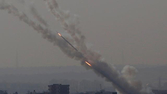 Lanzamiento de cohetes desde Gaza