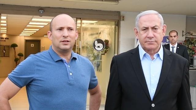 Naftali Bennett y Benjamín Netanyahu