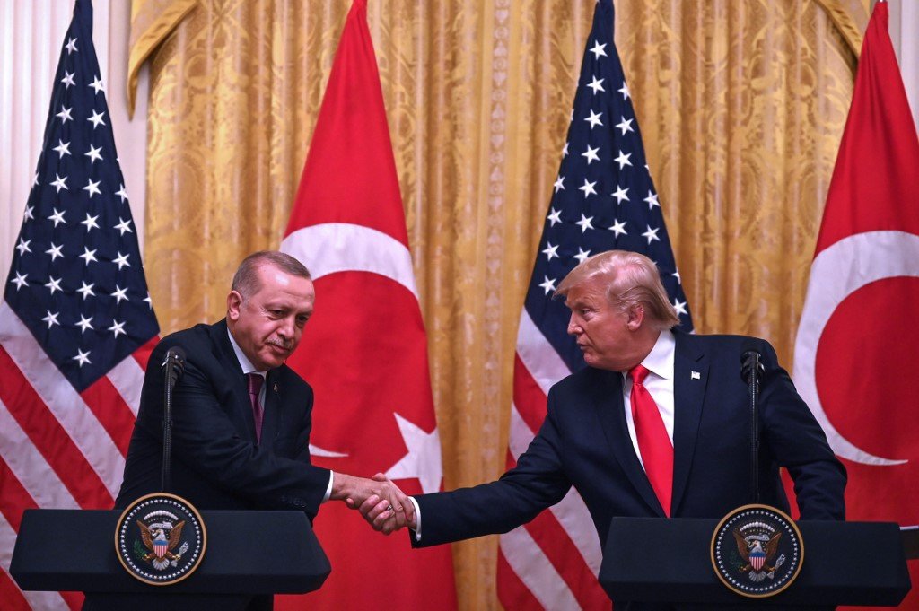 Trump y Erdogan en Washington