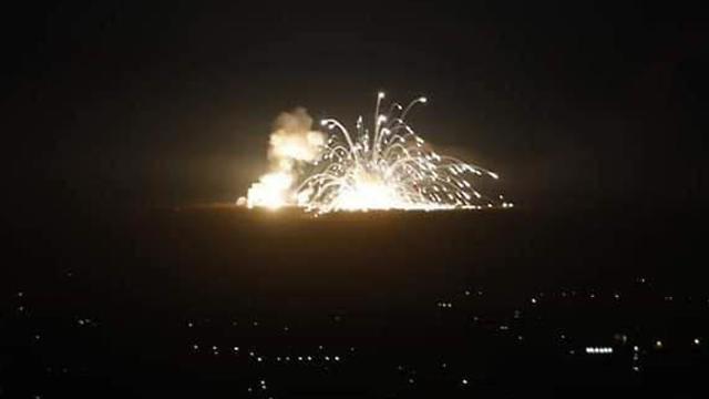 Bombardeo israelí en Siria