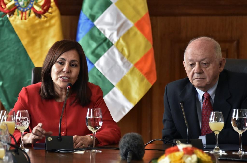 Jefa de la diplomacia del gobierno transitorio boliviano, Karen Longaric