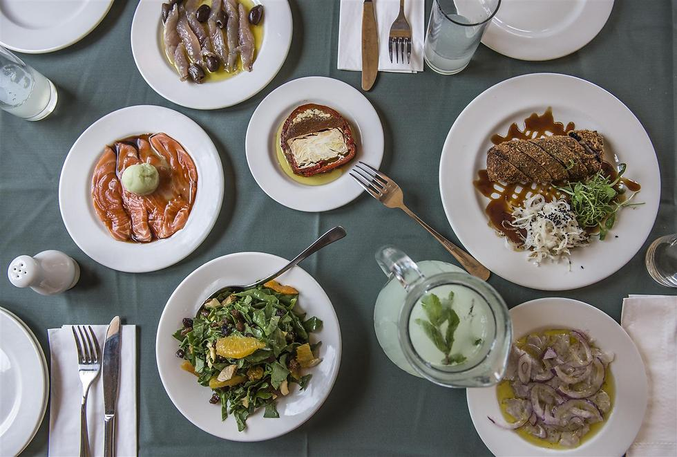 Algunos de los platos de Uri Buri.