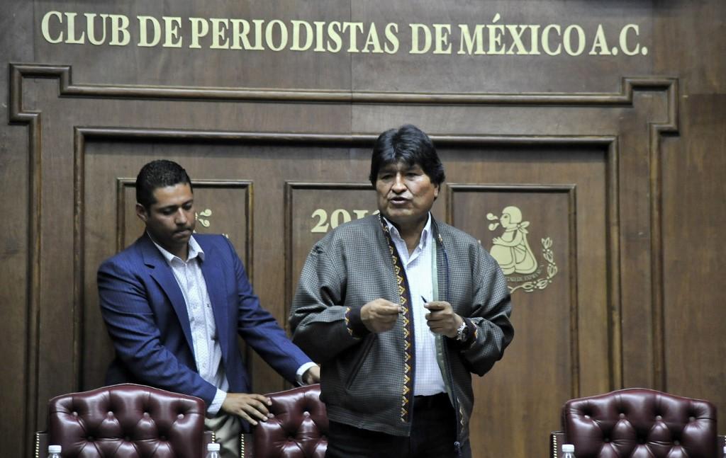 Evo Morales exiliado en México
