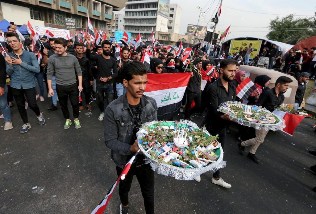 Los iraquíes recordaron a los fallecidos durante las protestas