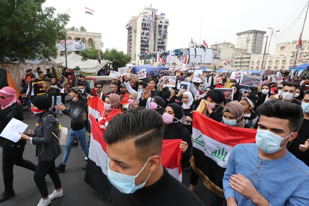 Manifestación en Bagdad