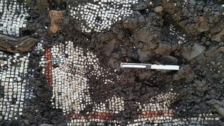 El mosaico fue hallado en un profundo estado de deterioro.
