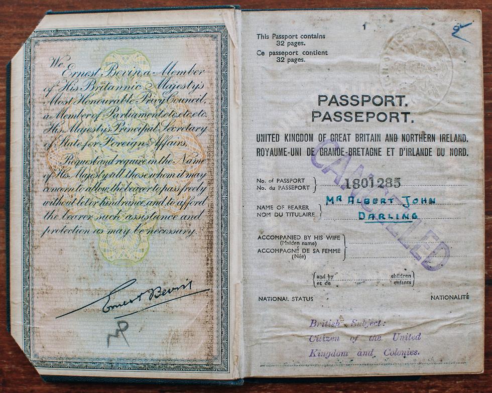 El pasaporte con la identidad falsa que Dar utilizó para ingresar a Egipto