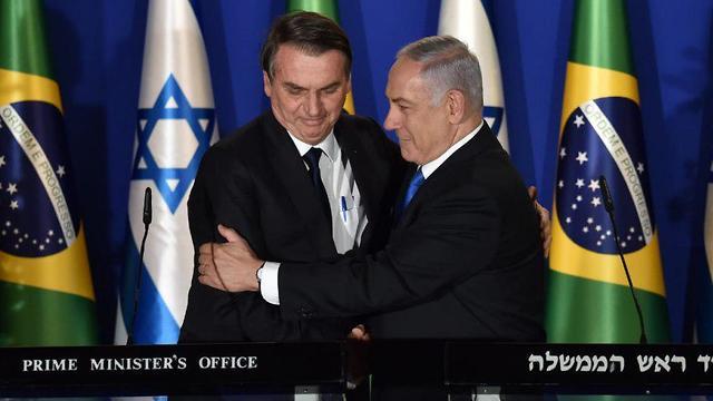 Netanyahu mantiene una estrecha relación con el presidente de Brasil Jair Bolsonaro