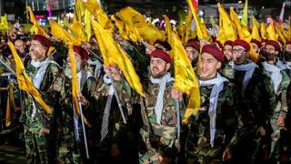 Miembros de Hezbollah durante un discurso de Nasrallah en Líbano
