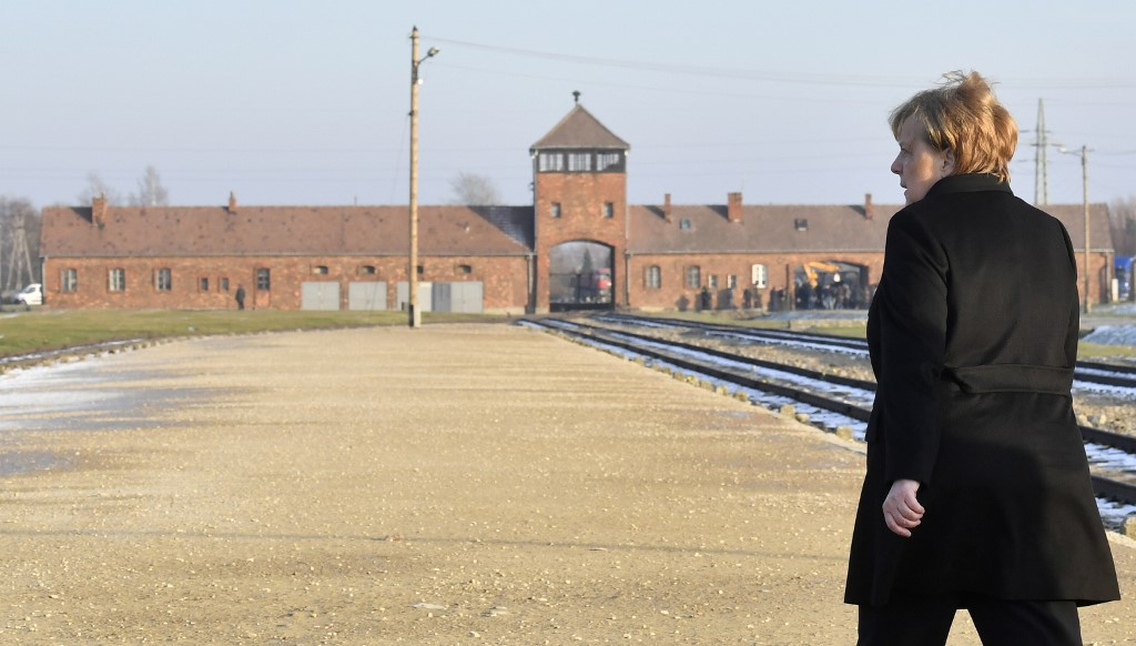 Merkel visitó Auschwitz por primera vez