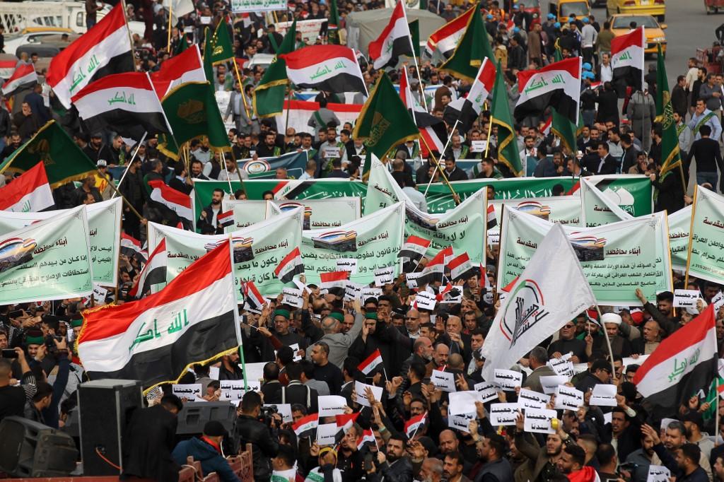 Protesta contra el gobierno en Irak
