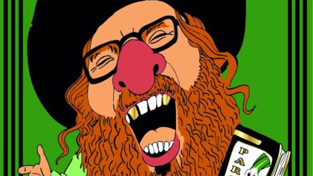 Una caricatura de un judío ortodoxo en una cinta antes del carnaval Aalst 2020.