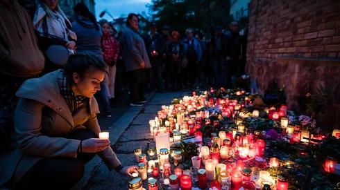 Un monumento a las víctimas del ataque a una sinagoga en la ciudad alemana de Halle