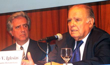 Tabaré Vázquez y Enrique Iglesias