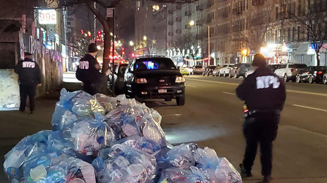 La policía de Nueva York en el lugar de los hechos