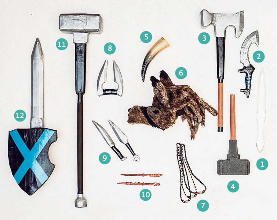 Algunas de las armas creadas por Moskovich.