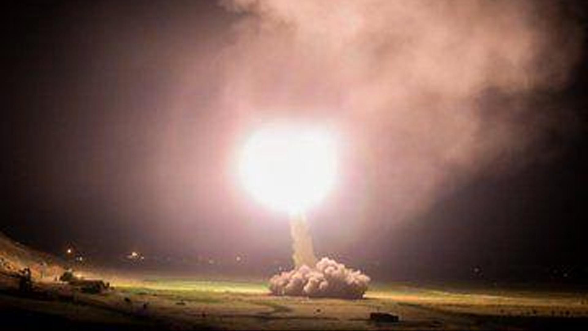 Lanzamiento de un misil iraní contra una posición estadounidense en Irak