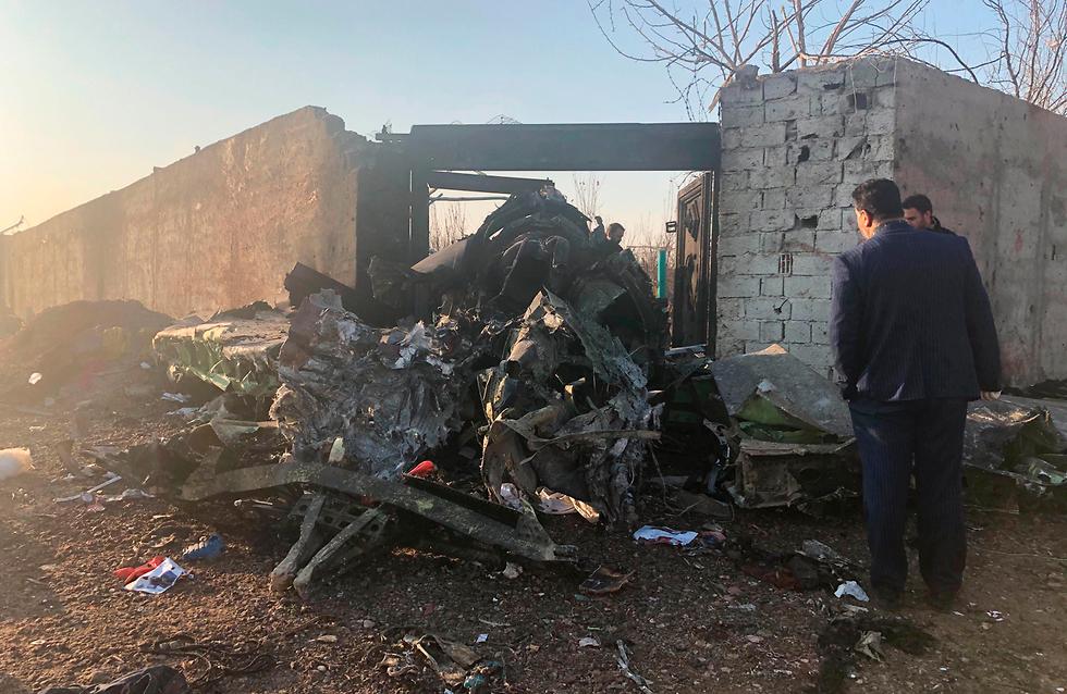 Destrucción en el lugar donde cayó el avión