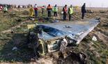 Restos del avión derribado por Irán