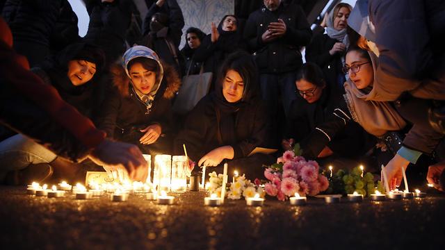 Homenaje a las víctimas del avión ucraniano derribado por el ejército iraní