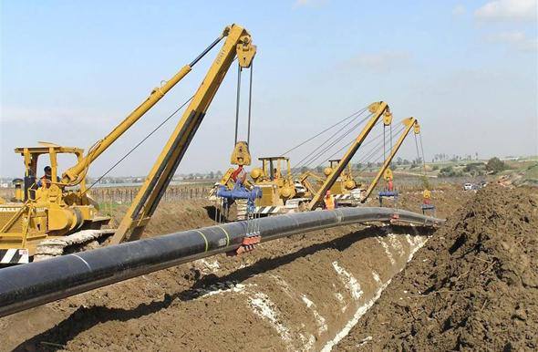 Un gasoducto de INGL.