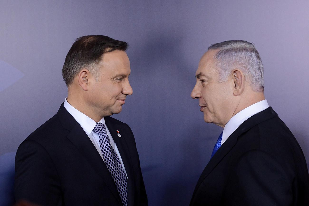 Andrzej Duda y Benjamín Netanyahu.