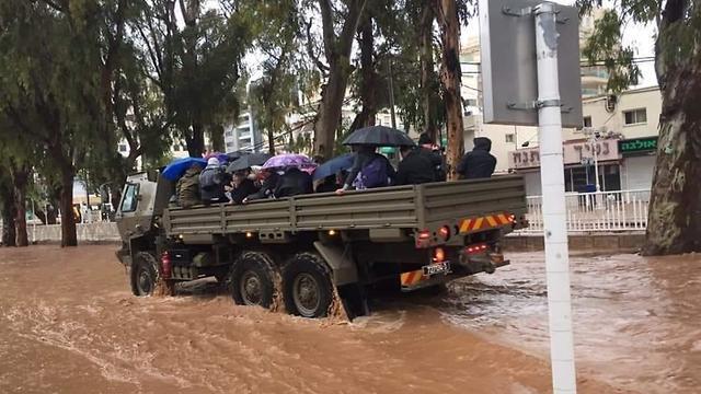 Inundaciones en Nahariya
