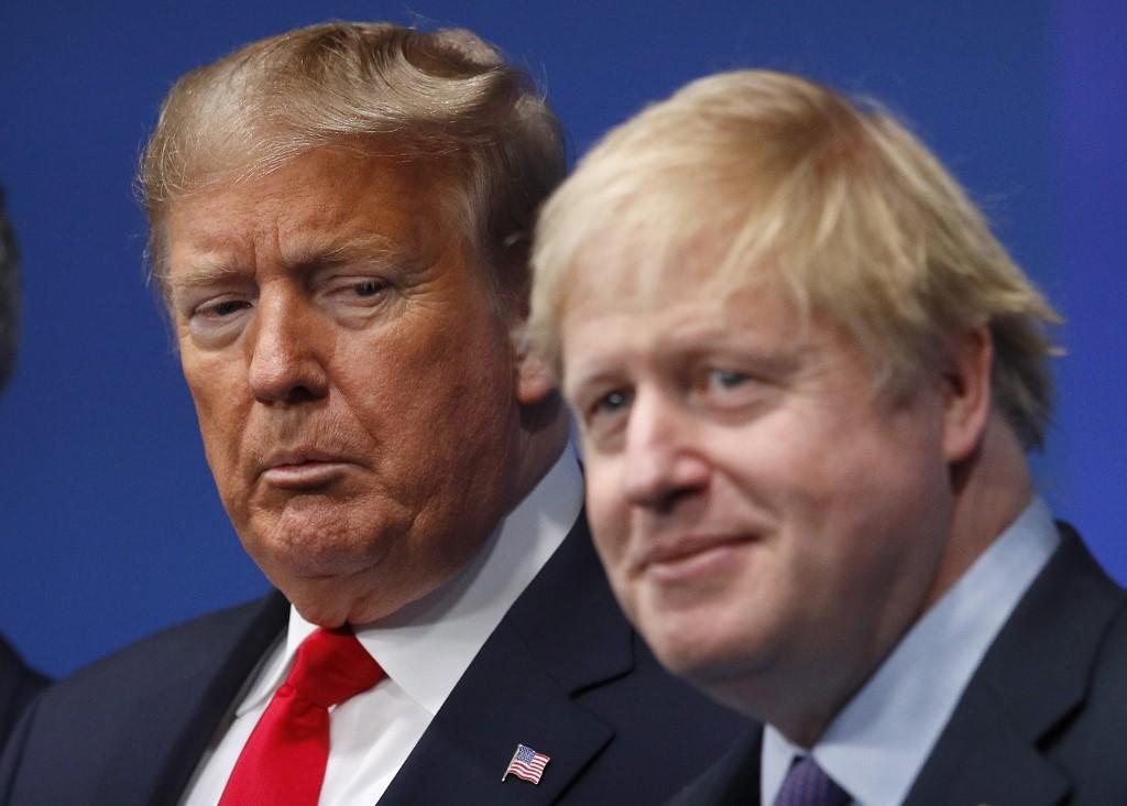 Boris Johnson y Donald Trump durante la cumbre de la OTAN en diciembre del 2019