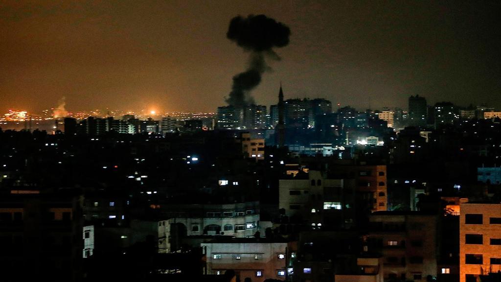Bombardeo israelí contra posiciones de Hamás en Gaza